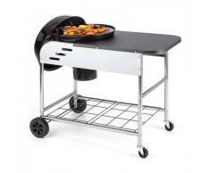 Klarstein Meatpacker XXL Barbacoa de carbón vegetal BBQ Horno para ahumar Ø 54 cm galvanizado