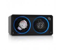 Klarstein 8LED2S Estuche para 2 relojes Negro LED