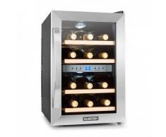 Klarstein Reserva frigorifico vino nevera para vino 12 botellas 130W acero inox.