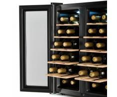 Klarstein SaloonNapa nevera para vinos Vinoteca 67L 2 puertas de cristal 11-18ºC plateado