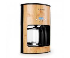 Klarstein Bamboo Garden Cafetera 1080W 1,25L temporizador bambú