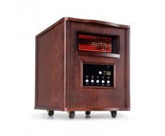 Klarstein Heatbox Radiador por infrarrojos 1500W Temporizador de 12h Mando a distancia Nogal oscuro