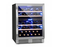 Klarstein Vinovilla Duo43 Nevera para vinos 2 zonas 129l 43 botellas Puerta de cristal 3 colores