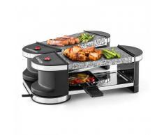 Klarstein Tenderloin Mini Raclette-Grill 600W 360°-Basis 2 piedras calientes