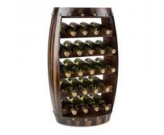 Klarstein Barrica Botellero de madera estantería para vinos de 22 botellas mader