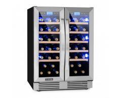 Klarstein Vinovilla Duo 42 Nevera para vinos 2 zonas 126l 42 botellas Puerta de cristal 3 colores