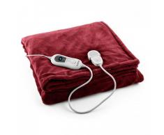 Klarstein Dr. Watson XL Manta eléctrica 120 W lavable 180x130cm micro fibra morada