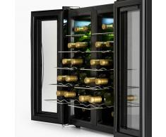 Klarstein SaloonNapa Nevera para vinos Vinoteca 67L 2 puertas de cristal 11-18ºC negro