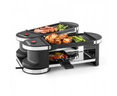 Klarstein Tenderloin Mini Raclette-Grill 600W 360°-Basis 2 grilles