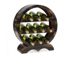 Klarstein Barrica Botellero de madera estantería para vinos de 10 botellas madera de abeto