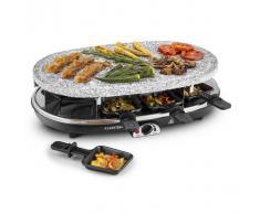 Klarstein Steaklette Raclette con grill 1500W Placa de granito natural 8 personas