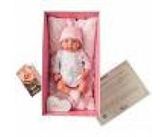 MUÑECAS ARIAS SL Bebé Reborn Gala 40 cm con Manta y Peluche