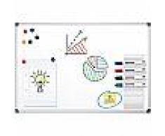 Office Depot Pizarra blanca magnética Office Depot acero lacado magnético 180 x 90 cm