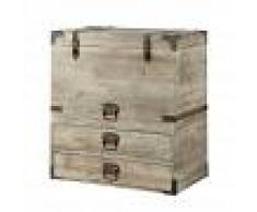 Maisons du Monde Baúl de madera An. 70 cm ROMARIC