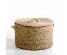 AM.PM Cesto redondo de jacinto de agua, Al. 36,5 cm, Lian BEIGE