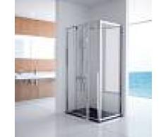 OUTLET -Mampara frente de ducha fijo con puerta pivotante - Kassandra - Serie 300