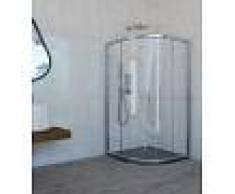Mampara de ducha semicircular con 2 fijos y 2 puertas correderas- Mamparas Anna Bagno - CAUCA