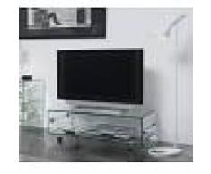 Mesa tv cristal con ruedas 100x50 ct-220