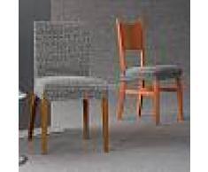 Zebra Textil Fundas para sillas letras zebra textil