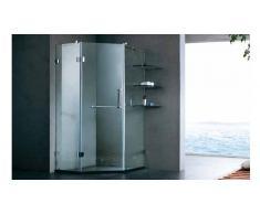 MobilierMoss Pared de ducha para ángulo de sala de baño - Mimma