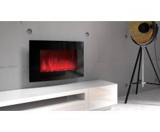 MobilierMoss Chimenea eléctrica redondeada LED multicolor - Black Kamin Curve 510