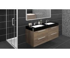 MobilierMoss Mueble de baño completo con lavado doble 138 cm Azzura