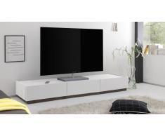 MobilierMoss Mueble TV de diseño 3 cajones lacado mate blanco Galatik
