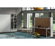MobilierMoss Cama plegable con escritorio 90/140/160 cm - Beddesk Horizontal