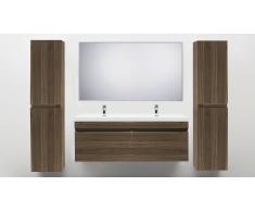 MobilierMoss Mueble de baño con lavabo doble 144 cm Giovanna