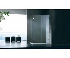 MobilierMoss Mampara de ducha rectangular 120x80 cm de vidrio - Jago