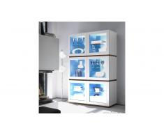 MobilierMoss Vitrina 6 puertas color lacado blanco mate - Galatik