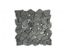 MobilierMoss Mosaico de guijarros piedras naturales negras -Mogalet Scuro