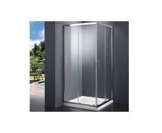 MobilierMoss Pared de ducha de vidrio 90x90 cm con apertura doble - Elimena