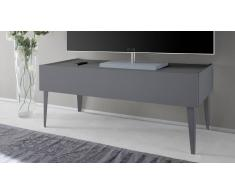 MobilierMoss Mueble TV de diseño 2 cajones lacado mate gris Galatik