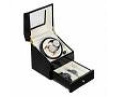 Klarstein Geneva Estuche para 2 relojes 4 modos cajón Negro