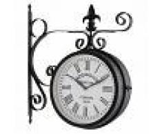 Blumfeldt Paddington Reloj de jardín, pared o estación Ø23cm Vintage Acero Negro