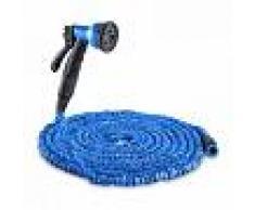 Waldbeck Flex 22 Manguera de jardín flexible 8 funciones 22,5m azul