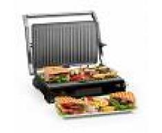 Klarstein Buffalo Grill de contacto Parrilla de panini 2000W Acero inoxidable Plateado/Negro