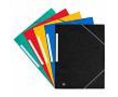 Bruneau Carpeta de 3 solapas en cartón de 450 g Colores surtidos A4 - (10 unidades)