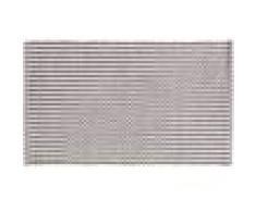 benuta PLUS Alfombrilla de baño Bono Gris/Blanco 70x120 cm - Alfombra para cuarto de baño