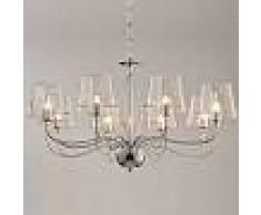 Kosiluz Lámpara de araña - vidrio transparente 8 Luces - Matane