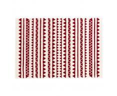 Alfombra con motivos gráficos rojo 120 x 170 cm TAYA
