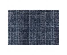 Alfombra azul con motivo gráfico 200 x 290 cm SAPHIR