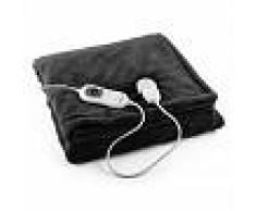 Klarstein Dr. Watson XL Manta eléctrica 120 W lavable 180x130cm micro fibra negra