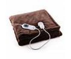 Klarstein Dr. Watson L Manta eléctrica 120W lavable 150x100cm Microfibra marrón