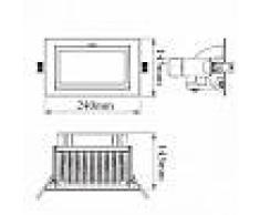 efectoled.com Foco Proyector LED SAMSUNG 120lm/W Direccionable Rectangular Design 60W LIFUD Blanco Neutro
