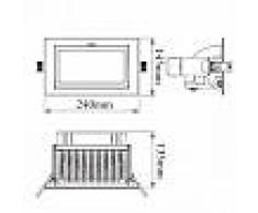 efectoled.com Foco Proyector LED SAMSUNG 120 lm/W Direccionable Rectangular Design 48W LIFUD Blanco Neutro