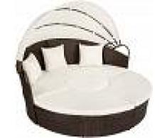 TECTAKE Isla de ratán y aluminio - sofas chaise longue, chaise longue baratos,