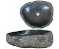 VIDAXL Lavabo de piedra natural ovalado 46-52 cm - VIDAXL