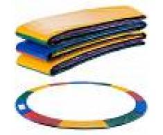 Arebos Almohadillas de seguridad Cojín Trampolín 427cm Multicolor